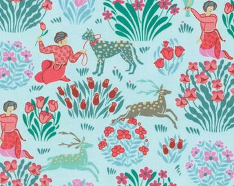 1/2 yard SPLENDOR by Amy Butler for Free Spirit Fabrics Forest Friends Sky