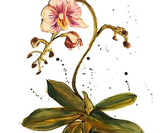 Digital file of orchid painting