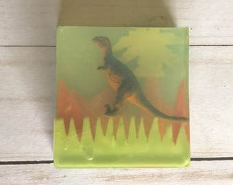 Dinosaur toy soap-dino toy imbed soap, boys birthday gift, Easter basket gift