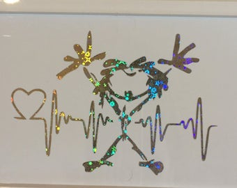 Pearl Jam Stickman EKG decal