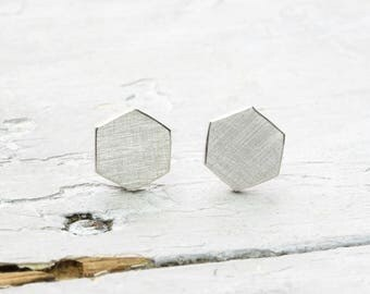 Geometric earrings ear studs Hexagon, Hexagon, honeycomb, polygon