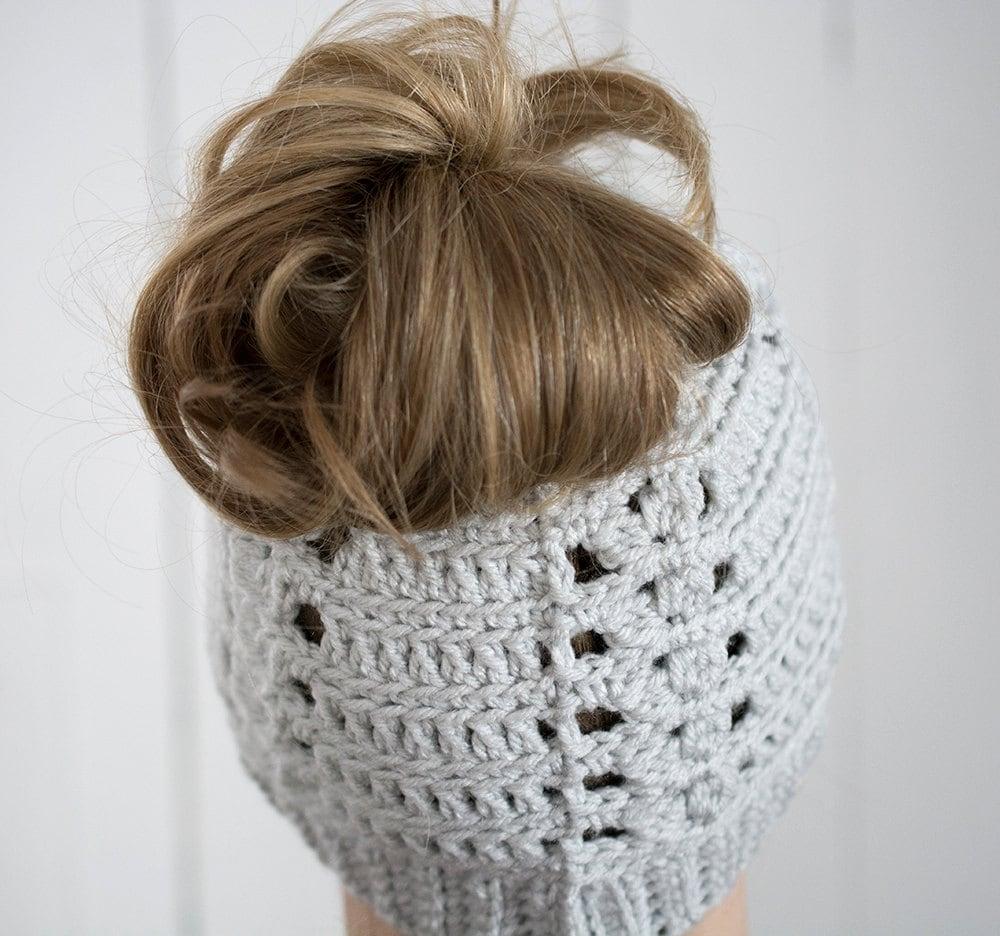 messy bun hat crochet messy bun viral beanie viral messy