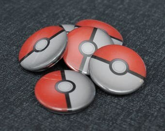 Pokemon pokeball pin button badge – Pokémon pokéball cosplay prop replica – fandom costume