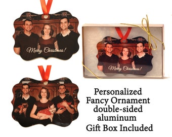 Custom Photo Ornament - Fancy Ornament - your photo turned into a unique gift - 2 sided