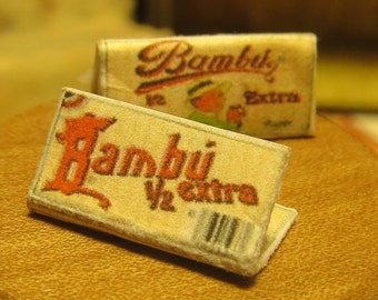 Big Bambu Dollhouse Miniature Fancy Rolling Papers - Cigarette Papers - Paraphernalia Adult Collectible
