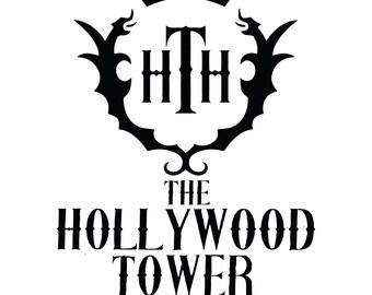Hollywood Tower Hotel Disney World Decal Car Tower of Terror Sticker HTH