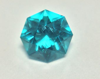 Helenite, Bright Sky Blue, Loose Faceted Gemstone, Octagon Brilliant Gemstone, 1 CTW