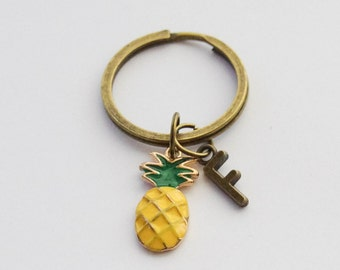Pineapple Purse Charm, Monogram Pineapple Keychain, Pineapple Accessories, Pineapple Key Ring, Pineapple Jewelry, Pineapple Gifts for her