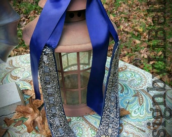 Royal Blue Beaded Necklace