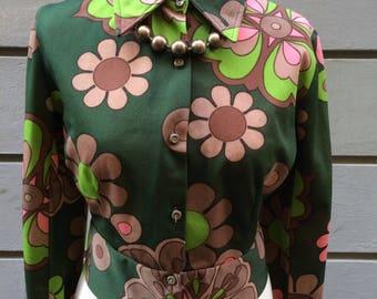1970s flower power short jacket.