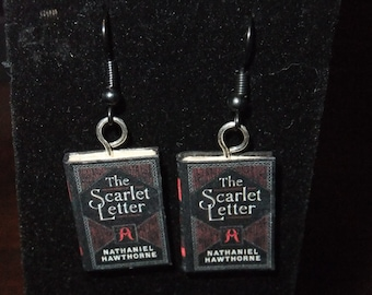 Scarlet Letter Earrings - Great Gift for Book Lovers!