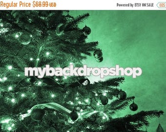 7ft x 5ft Green Christmas Tree Photo Backdrop – Christmas Photography Prop – Item 1768
