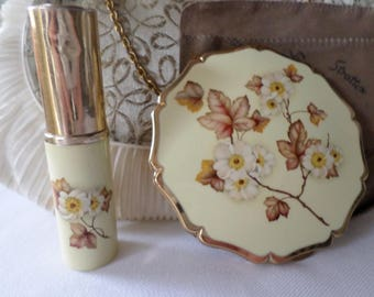 Vintage Stratton compact & perfume atomiser set Convertable compact stratton pouch sifter powder puff