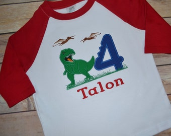 Dinosaur boy birthday shirt, trex birthday shirt, tyrannosaurus rex birthday, rawr birthday, boy birthday shirt, toddler birthday outfit
