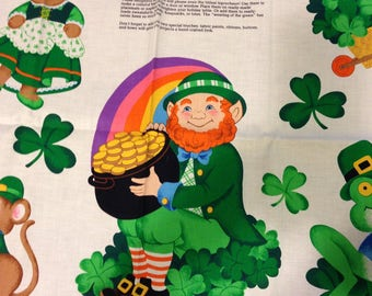 Top O' The Morning Appliques Fabric Panel VIP Cranston Print Works St Patricks Day