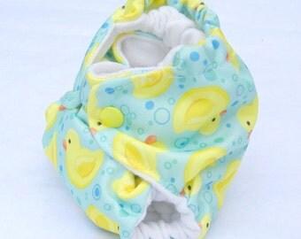 ducks print diaper, newborn size, all in one new born, cloth diaper, pul newborn diaper