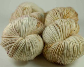Hand Dyed Yarn - MCN Fingering - 'Nutkin' - 400 yards - 70/20/10 Superwash Merino/Cashmere/Nylon