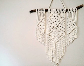 Macrame wall hanging, shabby chic decor, boho decor, hippie decor, wall art.