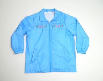 Vintage Floral Farmers Windbreaker jacket...