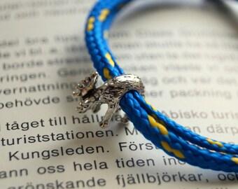 Sailing rope bracelet with Moose Sweden node bracelet