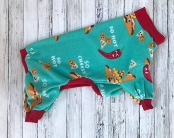CUSTOM LARGE DOG pajamas / pjs / onesie / longjohns / jimjams/ pitbull/ fleece / tacos / tooth and honey