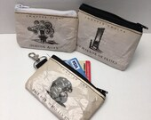 Witchcraft and Wizardry Book Page coin pouch | Customizable coin pouch | Credit Card Holder