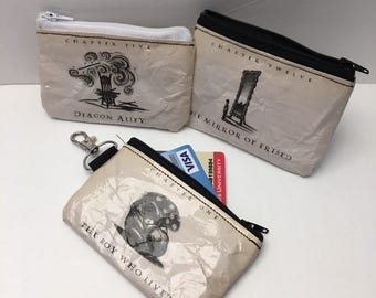 Witchcraft and Wizardry Book Page coin pouch | Surprise coin pouch | Credit Card Holder