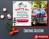 Christmas Photo Card | Christmas Truck | Vintage Truck card | Holiday Photo Card | tree | Christmas | Across the Miles | file | Digital