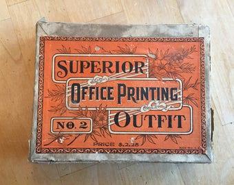 Vintage Printing set