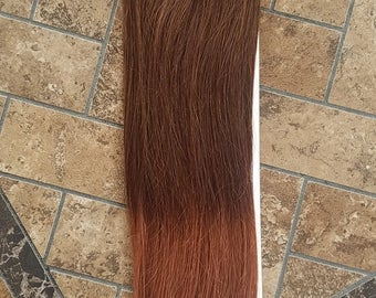 Clearance! 18inches 7pcs Clip In Human Ombre Hair Extensions T4/33