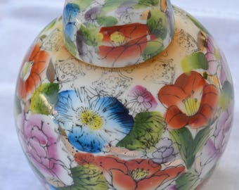 Chinese Porcelain Floral Ginger jar - Lovely manifacture