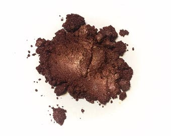COPPER COFFEE Mineral Eye Shadow - Natural Makeup - Gluten Free Titanium Free Vegan Face Color