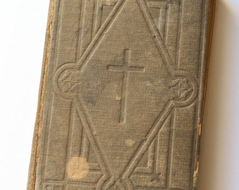 Religious Book, Small Religious Hymnal, 1800s, Hast Family, Inscribed, Episcopal Hymnal