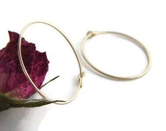 Gold hoop earring for women Simple gold hoops 1 inch hoop earring Minimal hoop Simple Delicate hoops Everyday gold earring Girlfriend hoops