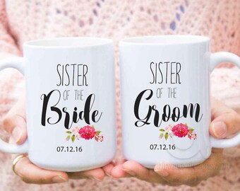 sister of the groom gift, personalized mugs, sister of the bride gifts ,wedding gifts for sister in law, from groom, gift from bride MU544
