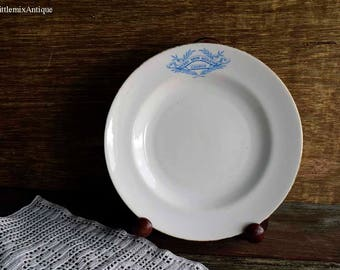 Antique Berry Brow Wesleyan Church Made in England White Porcelain Small Side/Cake/Bread/Salad Plate Retro Tea Time English White Tableware