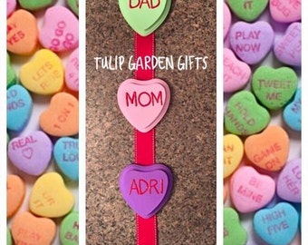 Wooden Sweethearts Family Valentine's Day Hanger