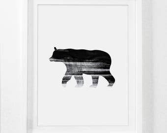 Rustic Bear Art, Bear, Bear Art Print, Black Bear, Bear Wall Art, Black Bears, Woodsy, Wildlife Decor, Wildlife Prints, Wildlife Art