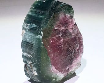 Top Quality 6.2g XL Bicolor Watermelon Tourmaline Elbaite Crystal - Paprok Mine, Afghanistan - Item:T17091