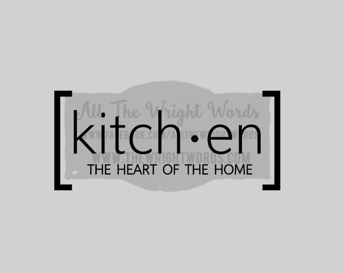 """FREE SHIPPING //  10.2x4.5"""" Kitchen The Heart Of The Home Vinyl Decal - Pressure Cooker Decal - IP - Decal  - Cooking - Home - Kitchen"""