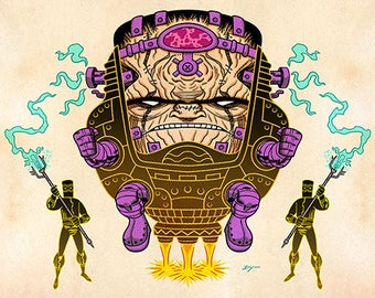 MODOK, Color, 11 x 17 Print by Darryl Young