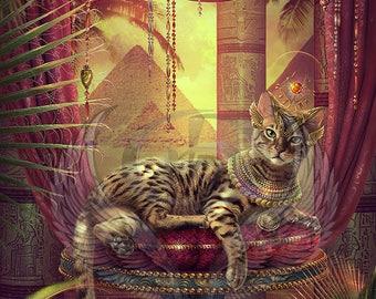 3x Cat #3 Custom Tokens MTG (Amonkhet)