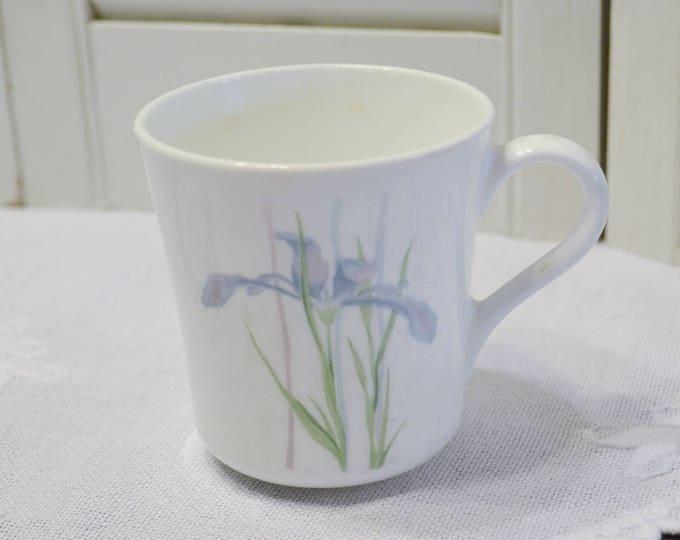 Vintage Corning Corelle Shadow Iris Cup Mug Purple Green White Replacement PanchosPorch