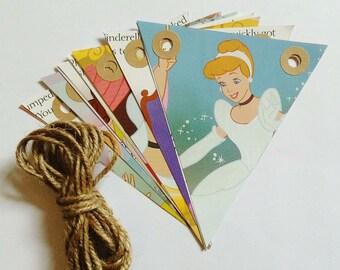 Handmade Cinderella Bunting - Fairytale - Classic Disney - Vintage Book Bunting - Childrens Gift - Nursery