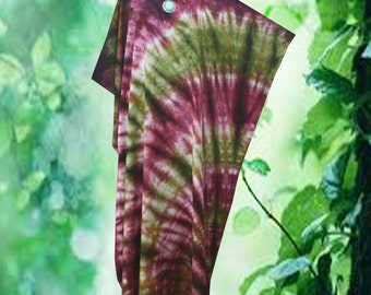Abstract Hand dyed Wearable Art Kaftan Caftan Dress Plus Size 1X 2X 3X
