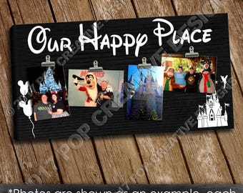 Disney Vacation Photo 12 x 23 Sign FREE SHIPPING INCLUDED