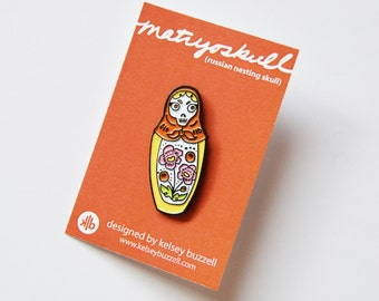 Matruoskull Pin - Enamel Pin - Lapel Pin