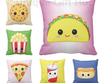 Food Pillow-Cute Throw Pillow series 2-Home Decor-Kawaii Decorative throw Pillow & Pillow Cover for couch-Fast Food Pillow--play room Decor
