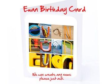 Euan Personalised Birthday Card