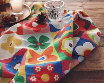 "Cotton Fabric Nordic Vivid Flower by the yards 44"" cozy Nordic Vivid Flower laceking2013"